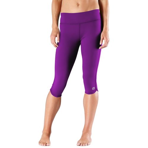 Womens R-Gear Free Form Tight Capri Pants - Plum Crazy XS