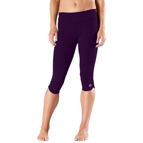 Womens R-Gear Free Form Tight Capri Pants - Plum Pop XS