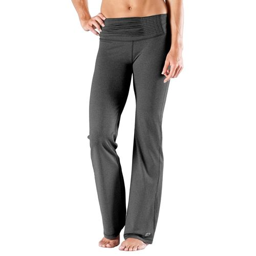 Womens Road Runner Sports Flatter Yourself Full Length Pants - Heather Charcoal XS