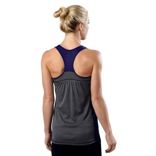 Womens R-Gear Shades of Grey Tank Technical Top - Bright Iris/Heather Charcoal XL