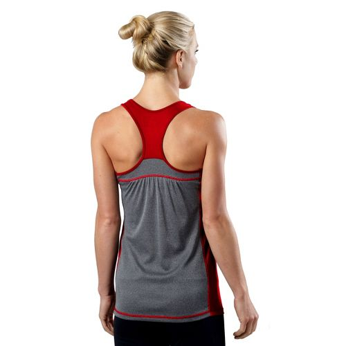 Womens R-Gear Shades of Grey Tank Technical Tops - Firefly Red/Heather Charcoal L
