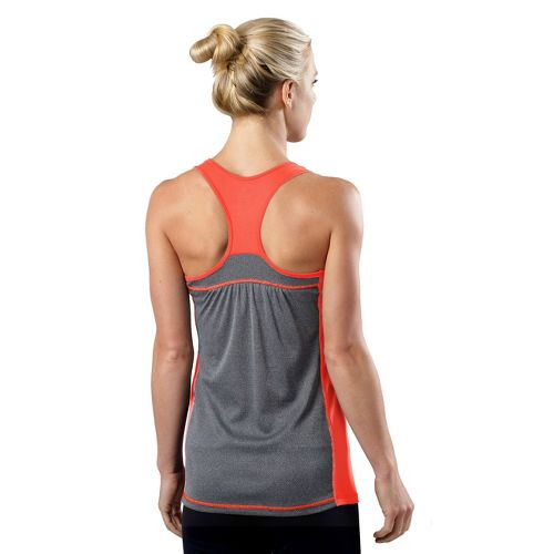 Womens R-Gear Shades of Grey Tank Technical Tops - Just Peachy/Heather Charcoal XL