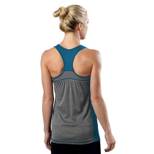 Womens R-Gear Shades of Grey Tank Technical Tops - Peacock Blue/Heather Charcoal XS