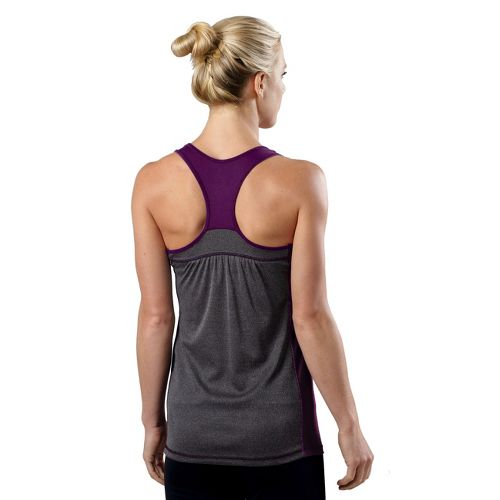 Womens R-Gear Shades of Grey Tank Technical Tops - Plum Crazy/Heather Charcoal L