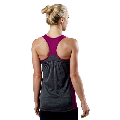 Womens R-Gear Shades of Grey Tank Technical Tops - Pink Berry/Heather Charcoal XL