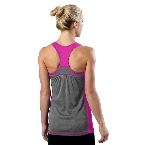 Womens R-Gear Shades of Grey Tank Technical Top - Passion Punch/Heather Charcoal XL