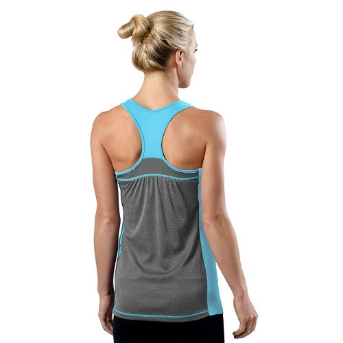 Womens R-Gear Shades of Grey Tank Technical Top - Sea Breeze/Heather Charcoal S