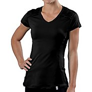 Womens Road Runner Sports Sleek & Chic Short Sleeve Technical Tops