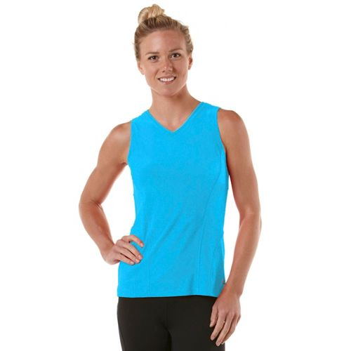Womens R-Gear Runner's High Sleeveless Technical Tops - Wave Blue S
