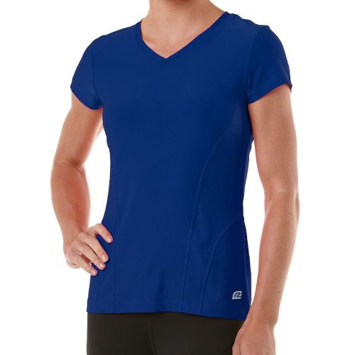 Womens R-Gear Runner's High Short Sleeve Technical Tops - Bright Iris XL