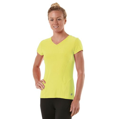 Womens R-Gear Runner's High Short Sleeve Technical Tops - Citron M