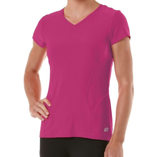 Womens R-Gear Runner's High Short Sleeve Technical Tops - Haute Pink S
