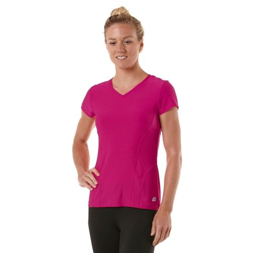 Womens R-Gear Runner's High Short Sleeve Technical Tops - Pink Berry L