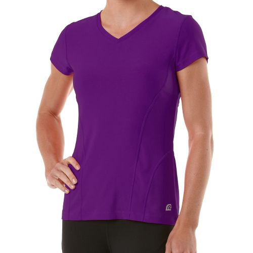 Womens R-Gear Runner's High Short Sleeve Technical Tops - Purple Shock XL