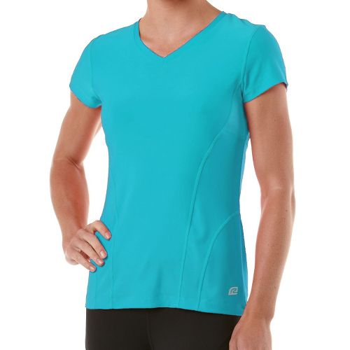 Womens R-Gear Runner's High Short Sleeve Technical Tops - Sea Glass Blue XS