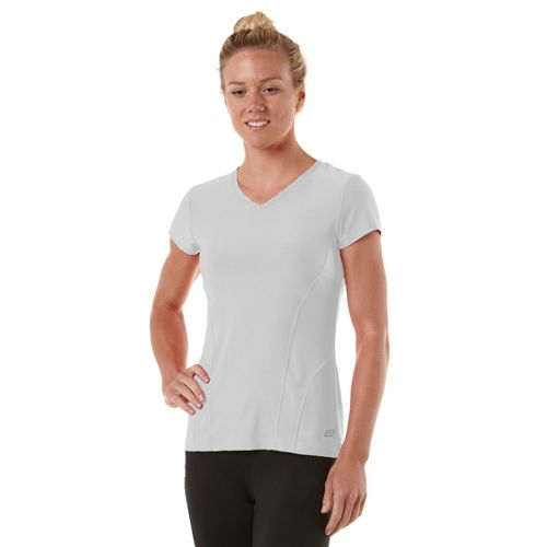Womens R-Gear Runner's High Short Sleeve Technical Tops - White XL