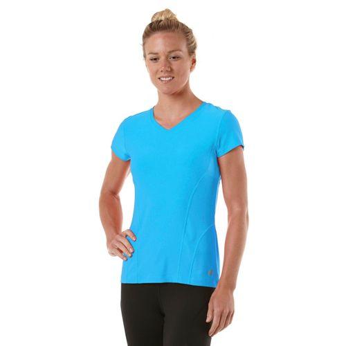 Womens R-Gear Runner's High Short Sleeve Technical Tops - Wave Blue XS