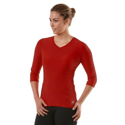 Womens R-Gear Runner's High 3/4 Sleeve Long Sleeve No Zip Technical Tops - Firefly Red ...