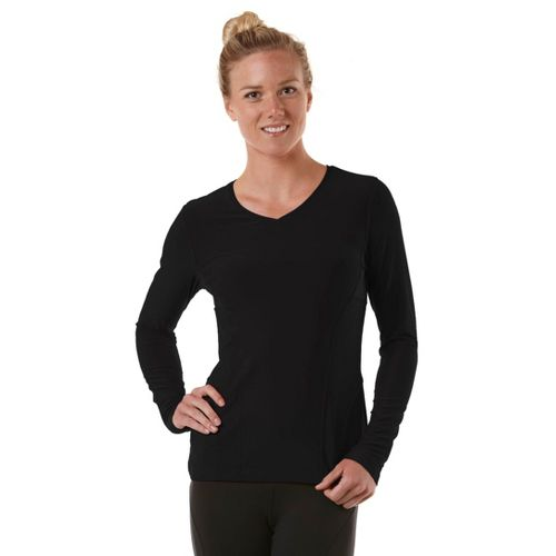 Womens R-Gear Runner's High Long Sleeve No Zip Technical Tops - Black XS