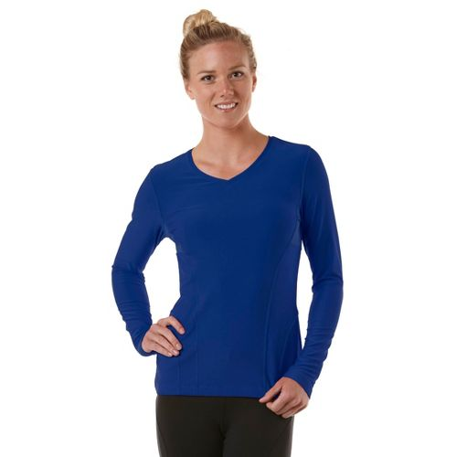 Womens R-Gear Runner's High Long Sleeve No Zip Technical Tops - Bright Iris L