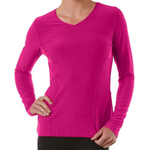 Womens R-Gear Runner's High Long Sleeve No Zip Technical Tops - Haute Pink XL