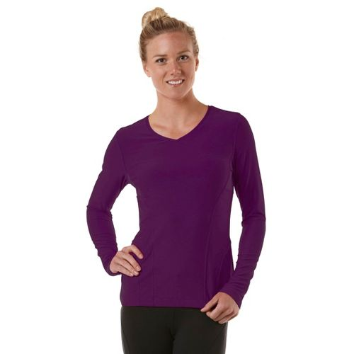 Womens R-Gear Runner's High Long Sleeve No Zip Technical Tops - Plum Crazy XS