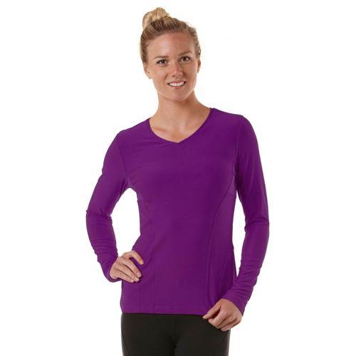 Womens R-Gear Runner's High Long Sleeve No Zip Technical Tops - Purple Shock S