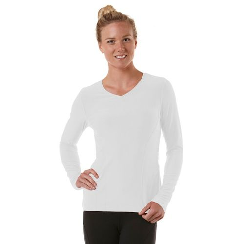 Womens R-Gear Runner's High Long Sleeve No Zip Technical Tops - White XL