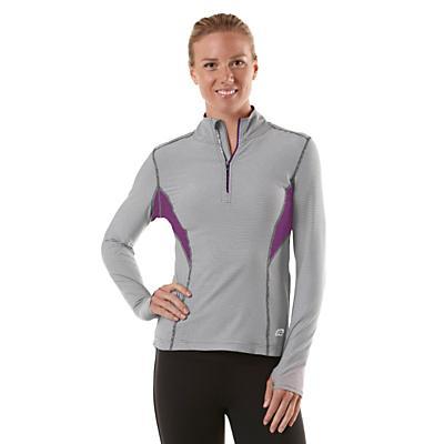Womens R-Gear On the Run Stripe Long Sleeve 1/2 Zip Technical Tops