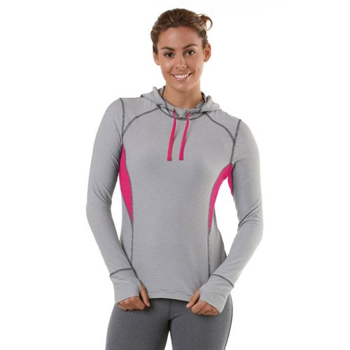 Womens R-Gear On The Run Stripe Hoodie Long Sleeve No Zip Technical Tops - ...