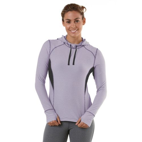 Womens R-Gear On The Run Stripe Hoodie Long Sleeve No Zip Technical Tops - Plum ...