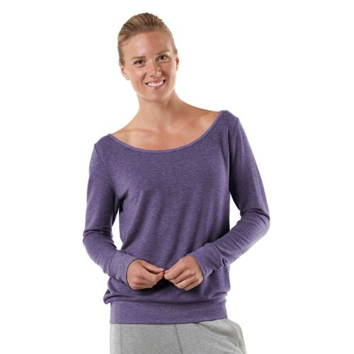 Womens R-Gear Flashback Long Sleeve Non-Technical Tops - Heather Plum Pop XS