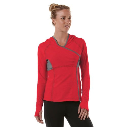 Womens R-Gear That's a Wrap Hoodie Long Sleeve No Zip Technical Tops - Firefly Red/Heather ...