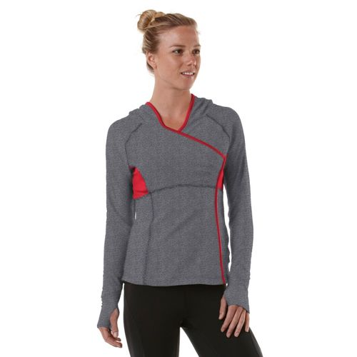 Womens R-Gear That's a Wrap Hoodie Long Sleeve No Zip Technical Tops - Heather Charcoal/Firefly ...