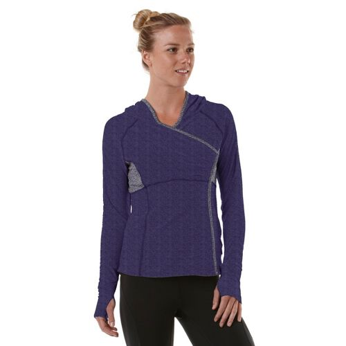 Womens R-Gear That's a Wrap Hoodie Long Sleeve No Zip Technical Tops - Heather Plum ...