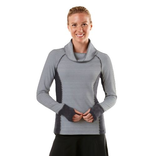 Womens R-Gear Star Struck Long Sleeve No Zip Technical Tops - Charcoal/Stripe/Charcoal L
