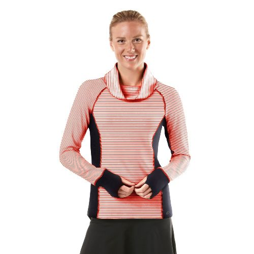 Womens R-Gear Star Struck Long Sleeve No Zip Technical Tops - Firefly Red/Stripe/Charcoal XL