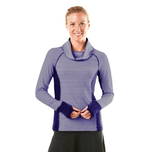 Womens R-Gear Star Struck Long Sleeve No Zip Technical Tops - Plum Pop/Stripe/Plum Pop L ...