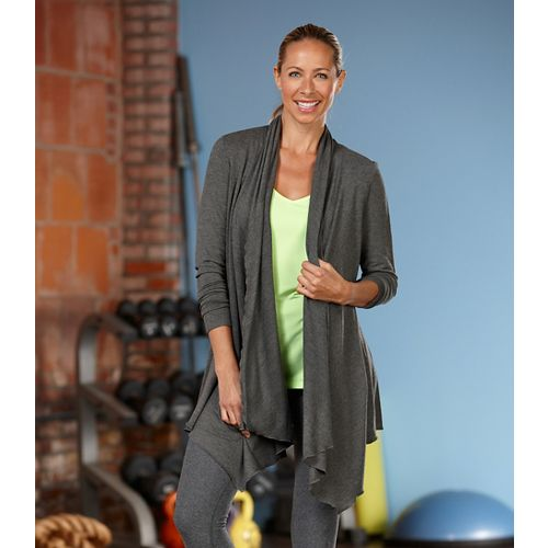 Womens R-Gear Out & About Cardi Long Sleeve Non-Technical Tops - Heather Charcoal XS
