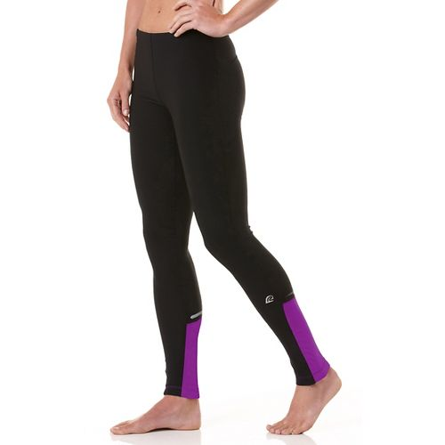Womens R-Gear Night Watch Fitted Tights - Black/Purple Shock M
