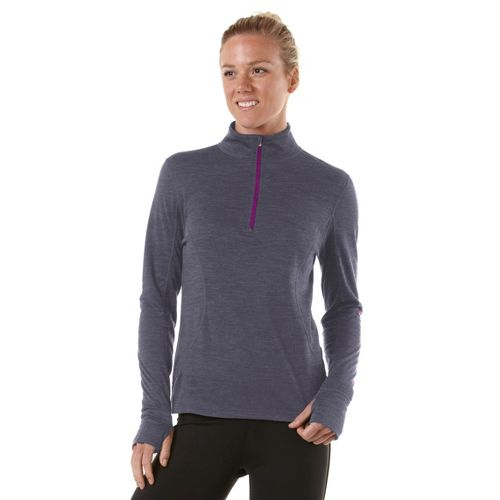 Womens R-Gear Total Softy Wool Long Sleeve 1/2 Zip Technical Tops - Heather Charcoal L ...