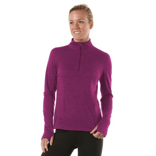 Womens R-Gear Total Softy Wool Long Sleeve 1/2 Zip Technical Tops - Violet XL