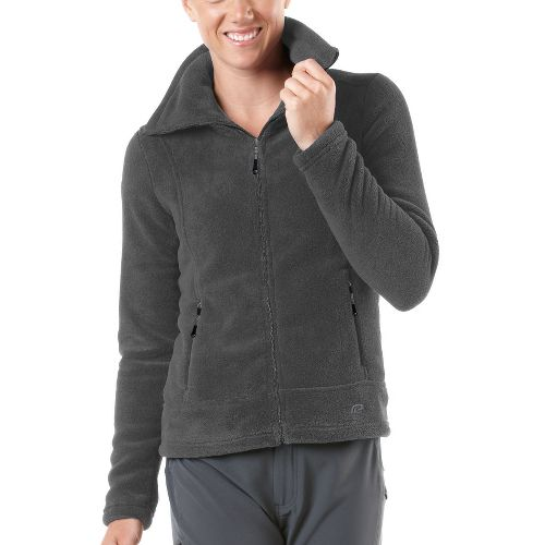 Womens R-Gear Pure Plush Fleece Outerwear Jackets - Charcoal S