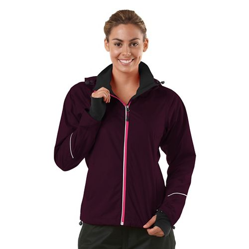 Womens R-Gear In Your Element Rain Outerwear Jackets - Mulberry Madness L