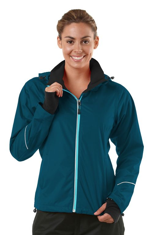 Womens R-Gear In Your Element Rain Outerwear Jackets - Peacock Blue XS