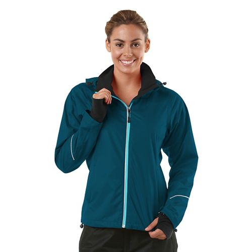 Womens R-Gear In Your Element Rain Outerwear Jackets - Peacock Blue XL