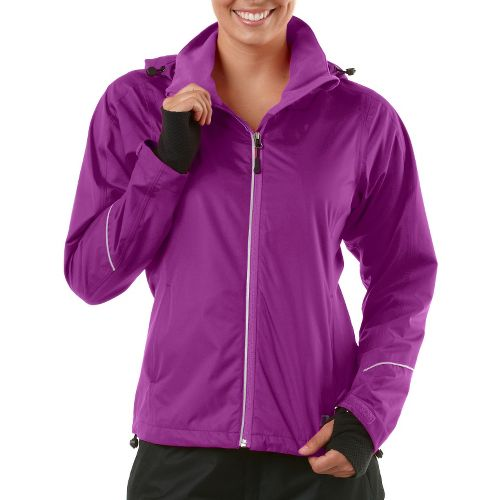 Womens R-Gear In Your Element Rain Outerwear Jackets - Purple Shock L