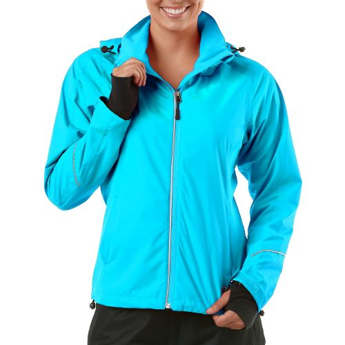 Womens R-Gear In Your Element Rain Outerwear Jackets - Sea Glass Blue XS
