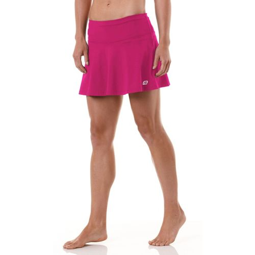 Womens ROAD RUNNER SPORTS Flutter By Skort Fitness Skirts - Pink Berry/Heather Charcoal L