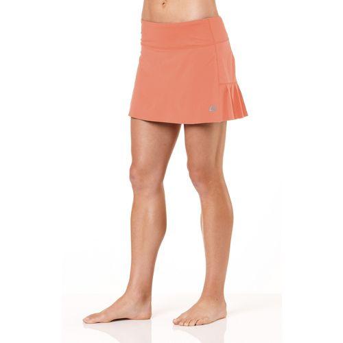 Womens ROAD RUNNER SPORTS School 'Em Skort Fitness Skirts - Just Peachy L